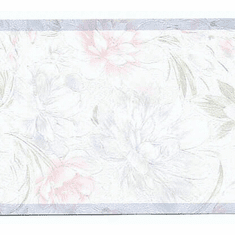 879079 Pastel Flowers on Satin Background Wallpaper Border