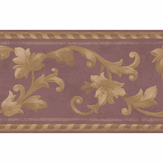 879080 Architectural Satin Scroll Wallpaper Border