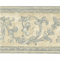 879086 Satin Victorian Scrolled Architectural Wallpaper Border
