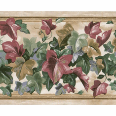 879093 Colorful Ivy Leaves Wallpaper Border