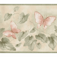 879095 Butterflies and Ivy Wallpaper Border FDB06903