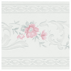 879096 Narrow Satin Floral Wallpaper Border