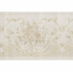 879097 Victorian Satin Floral Scroll Wallpaper Border