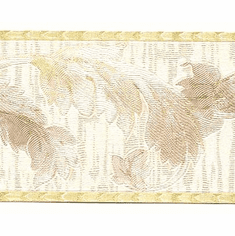 879098 Satin Leaf Scroll Wallpaper Border