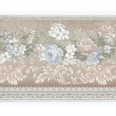 879104 Satin Pastel Roses Wallpaper Border