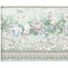 879105 Satin Pastel Roses Wallpaper Border