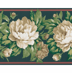 879109 Peonies Botanical Wallpaper Border