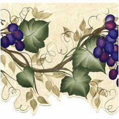 879112 Laser Cut Grapes Grapevine Wallpaper Border
