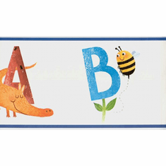 879133 Animal Alphabet Wallpaper Border SB7651bd