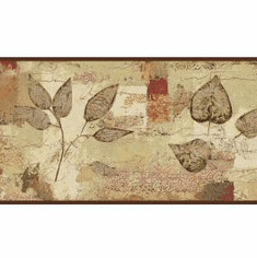 879142 Botanical Leaves Pressed Wallpaper Border BP8347bd