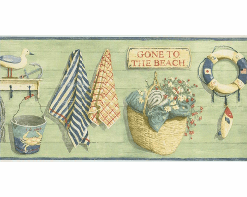 879152 Gone To The Beach Wallpaper Border