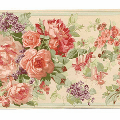 879156 Traditional Floral Wallpaper Border
