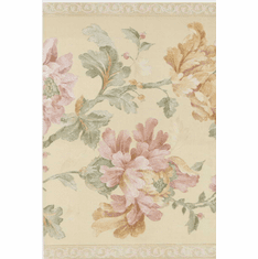 879161 Wide Satin Floral Wallpaper Border