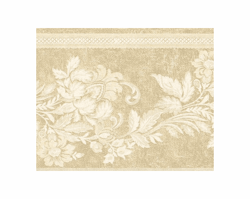 879166 Tone on Tone Floral Trail Wallpaper Border