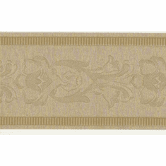 879167 Narrow Gold Satin Architectural Wallpaper Border