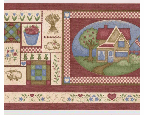 879172 Country Charm Wallpaper Border