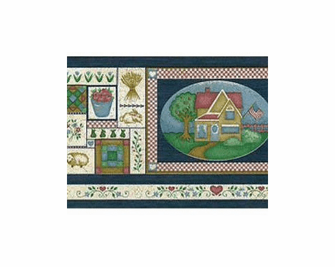 879174 Country Charm Wallpaper Border