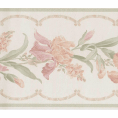 879175 Satin Floral Trail Bamboo Wallpaper Border