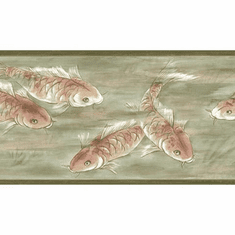 879180 Asian Koi Fish Wallpaper Border