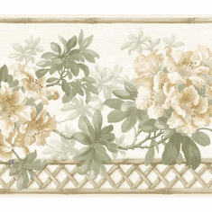 879182 Floral Lattice Wallpaper Border