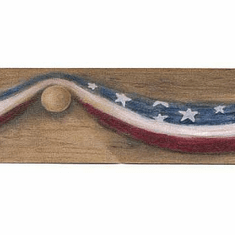 879193 Narrow Americana Draped Flag Wallpaper Border