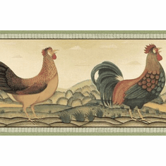 879196 Rooster Plains Wallpaper Border
