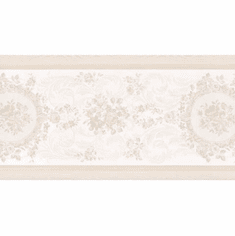 879199 Cameo Rose Satin Scroll Wallpaper Border