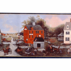 879202 Quaint Colonial Town Wallpaper Border 92942fp  WM96215