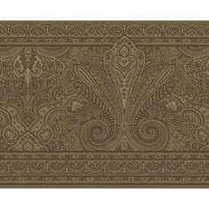 879204 Paisley (Olive Greenish background) Wallpaper Border
