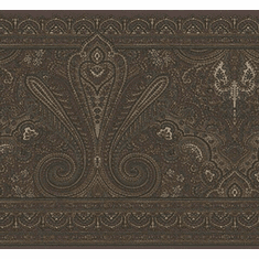 879205 Paisley (Burgundy background) Wallpaper Border