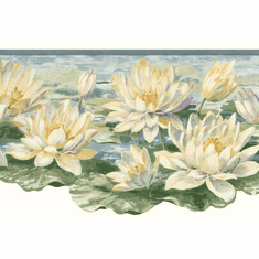 879219 Water Lily Pads Wallpaper Border