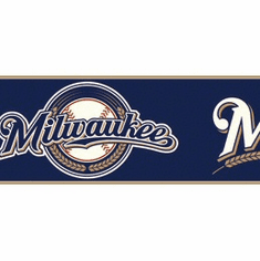 879237 Milwaukee Brewers Wallpaper Border