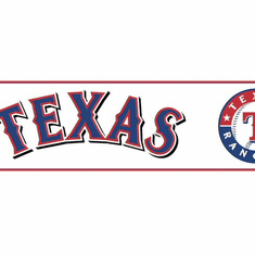 879239 Texas Rangers Wallpaper Border