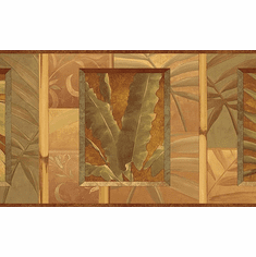 879242 Tropical Leaves Wallpaper Border