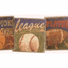 879246 Vintage Sports Champ Wallpaper Border