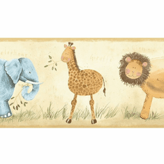 879261 Kids Safari Animals Wallpaper Border