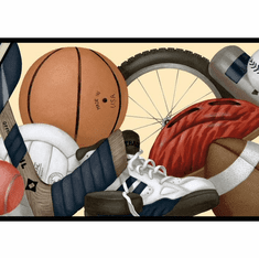 879264 Sports Balls Equipment Wallpaper Border