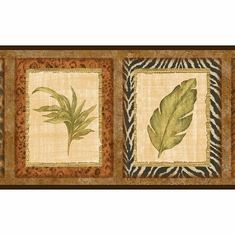 879268 Animal Skin Framed Tropical Wallpaper Border