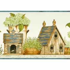 879275 Cottage Birdhouses Wallpaper Border