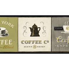 879278 Coffee Signs Wallpaper Border