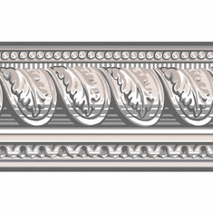 879284 Gray Architectural Wallpaper Border