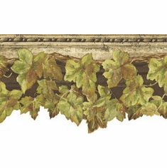 879295 Scalloped Ivy Wallpaper Border