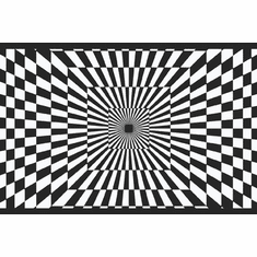 879298 Black & White Funky Optics Wallpaper Border
