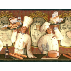 879305 French Chefs Wallpaper Border