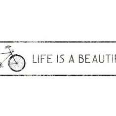 879331 Life is Beautiful Bicycle Wallpaper Border