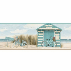879337 Beach Cruiser Wallpaper Border Teal