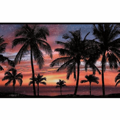 879344 Paradise Palm Wallpaper Border Orange/Purple