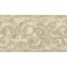 879363 Architectural Scroll Wallpaper Border