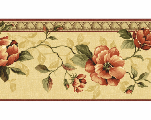 879369 Architectural Rose Wallpaper Border