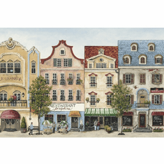 879371 Scenic Mainstreet Wallpaper Border